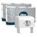 Premium Toilet Paper KLEENEX white + Dispenser - 72pcs./roll