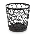 Basket/Riser BASKET Ø21cm/height21cm Metal black - 1pc.