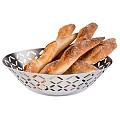 Basket for Bread or Fruits STRIPES Ø20cm/height6cm Stainless Ste
