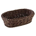 Basket oval PROFI LINE 19x12cm/height6cm PP-Plastic brown - 1pc.
