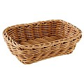 Basket rectangular 19x13cm/height6cm PP-Plastic beige - 1pc.