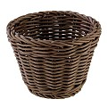 Basket round PROFI LINE Ø13cm/height10cm PP/Plastic brown - 1pc.