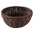 Basket round Ø16cm/height8cm PP-Plastic brown - 1pc.