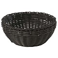 Basket round Ø16cm/height8cm PP-Plastic black - 1pc.