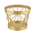 Basket/Riser BASKET Ø8/10,5cm/height8cm Metal gold - 1pc.