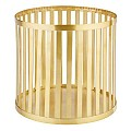 Basket/Riser BASKET Ø21cm/height20cm Metal gold - 1pc.