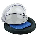 Cooling Box TOP FRESH round Ø42cm/height6cm Acrylic black - 1pc.