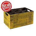 NEW! Table Caddy VINTAGE 27x17cm/H16cm Wood yellow - 1pc.