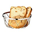 Basket for Bread or Fruits Ø18cm/height7,5cm Metal chromed - 1pc