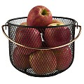 Bread Basket Ø21cm/Height16,5cm METAL black/copper look - 1pc.