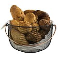 Bread Basket Ø30cm/Height19cm METAL black/copper look - 1pc.