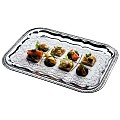 Party Trays 41x31cm Metal chromed - 48pcs.