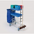 Cleaning Trolley PW3 116x70cm/height125cm chrome plated - 1pc.