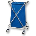 Paper Trolley X-FORM 120ltr. 62x57cm/height100cm chrome plated