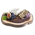 Wood Plater 26x24cm/height2cm ACACIA WOOD - 1pc.