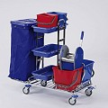 Cleaning Trolley RW1 120ltr. 116x69cm/height110cm chrome plated