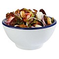 Bowl PURE 0,45ltr Ø15cm/height7,5cm MELAMIN white/blue - 1pc.