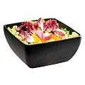 Bowl SLATE 25x25cm/height12cm MELAMIN black - 1pc.