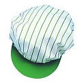 SCREEN CAP with elastic band PES/COTTON green/white - 1pc.