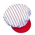SCREEN CAP with elastic band PES/COTTON red/white - 1pc.