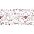 SCRIPT Table Runners 40cmx24lfm LINCLASS burgundy - 4pcs.