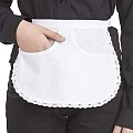 SERVING-APRONS Round Shape Cotton/Linon white - 1pc.