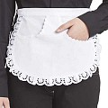 SERVING-APRONS Pocket Tip Cotton white - 1pc.