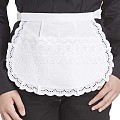 SERVING-APRONS Madeira-Stick Cotton white - 1pc.