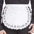 SERVING-APRONS Delicate Shape Cotton white - 1pc.