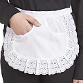 SERVING-APRONS Edge Tip Cotton white - 1pc.