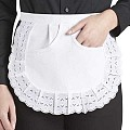SERVING-APRONS Edge Tip Cotton/PES white - 1pc.