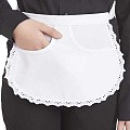 SERVING-APRONS Edge Tip Cotton/Linon white - 1pc.