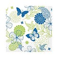 Napkins NATALIE 33x33cm TISSUE 3-ply blue/green - 600pcs.
