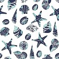 Napkins BEACH 40x40cm 1/4fold SOFTPOINT blue  - 600pcs.