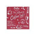 Napkins COFFEE TIME 24x24cm 1/4fold TISSUE bordeaux - 1200pcs.