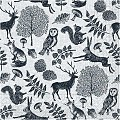 Napkins FOREST 40x40cm 1/4fold TISSUE grey/black - 600pcs.