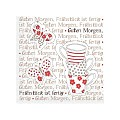 BREAKFAST Napkins 25x25cm TISSUE red - 1200pcs.