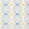 Napkins LUDO 40x40cm 1/4fold TISSUE blue/gold - 600pcs.