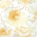 Napkins ROSALIE 40x40cm 1/4fold TISSUE yellow - 600pcs.