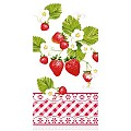 Napkins SENGA 33x33cm 1/8fold TISSUE 3-ply red - 600pcs.