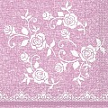 Napkins LACE 33x33cm 1/4fold TISSUE 3-ply rose - 800pcs.