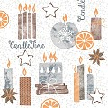 CANDLE TIME Napkins Christmas 40x40cm LINCLASS grey - 300pcs.