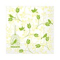 Napkins ALICE 33x33cm TISSUE 3-lagig yellow - 600pcs.