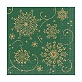 CRISTAL Napkins Christmas 33x33cm TISSUE green - 600pcs.