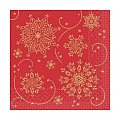 CRISTAL Napkins Christmas 33x33cm TISSUE red - 600pcs.