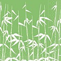 Napkins GREEN BAMBOO 40x40cm TISSUE green/white - 600pcs.