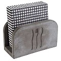 Napkin Holder ELEMENT 16x7,5cm/height10cm Concrete grey- 1pc.