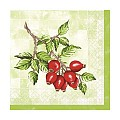 Napkins HANNE 33x33cm TISSUE 3-ply green/red - 600pcs.