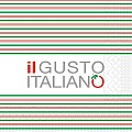 Napkins IL GUSTO 40x40cm 1/4fold TISSUE red/green - 600pcs.