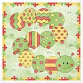 LITTLE CATERPILLAR Napkins 33x33cm 1/4fold TISSUE - 600pcs.